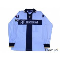 Photo1: Parma 2005-2006 Home L/S Shirt #24 F.Couto Lega Calcio Serie A Tim Patch/Badge CHAMPION - Football Shirts,Soccer Jerseys,Vintage Classic Retro - Online Store From Footuni Japan