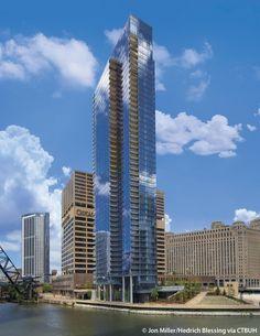 Пользователь Giuseppe Canu сохранил пины на доску «Chicago» Wolf Point West - The Skyscraper Center