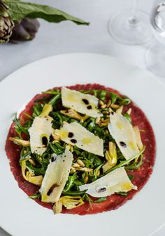 Beef Carpaccio with marinated radicchio