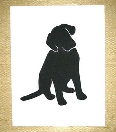 Girl's Best Friend Silhouette Art
