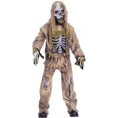 Skeleton Zombie Child Costume - 8 to 10 - Kid's Costumes by AMC