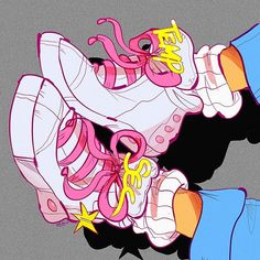 Another beautiful sneaker art by Young Earl Grey. Inspired by an extended remix of Paul McCartney's track from his McCartney II album, with a dose of Barbie thrown in. Drawing Sketches, Art Drawings, Sketch Art, Sneaker Art, Shoe Art, Art Shoes, Pretty Art, Art Sketchbook, Drawing Reference