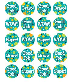 Teal Appeal Motivators Motivational Stickers from Carson-Dellosa