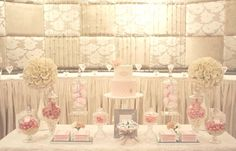 white candy table - Google Search