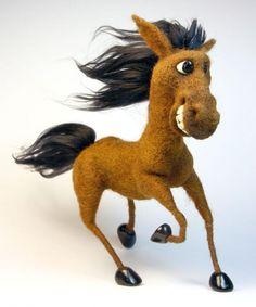 """""""Конь ретивый""""- скульптура из шерсти - Ярмарка Мастеров - ручная работа, handmade"""