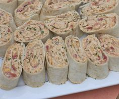 mexican chicken salad pinwheel wraps recipes ...this would make a quick healthy snack if you substituted low-fat or non-fat cream cheese and whole wheat tortillas. Yum!