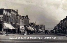 Second Street looking south, circa 1913 by H. Svenson.