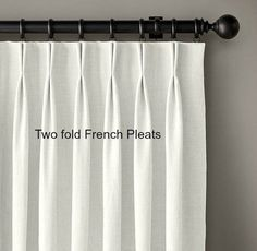 French Pleated linen drapes, Off white and black, grosgrain curtains, Customized two tone linen curtains, pinch pleat curtains Pinch Pleat Curtains, No Sew Curtains, Pleated Curtains, Rod Pocket Curtains, Linen Curtains, Window Curtains, Silk Drapes, White Lined Curtains, Bedroom Drapes