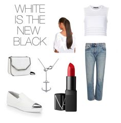 """""""WHITE IS THE NEW BLACK"""" by beyou19 on Polyvore featuring Thakoon, The Row, Miu Miu, STELLA McCARTNEY, NARS Cosmetics and Allurez"""