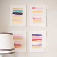 Beautiful, simple DIY art idea that anyone can make! (Plus LOTS more brilliant, creative wall art ideas!)