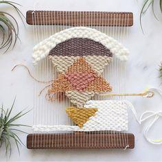 Madison, WI Weaving Workshop Feb 20th, 2016 by Melissa Jenkins Designs // Woven Wall Hanging In Progress
