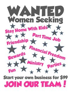 WANTED: fun-loving women to join my team! Contact me TODAY to get the scoop! www.marykay.com/LaShon