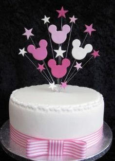 Minnie Mouse Birthday Cake Topper Suitable For A 20cm Cake: Amazon.co.uk: Kitchen & Home