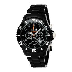 Ice-Watch Men's CH.BK.B.P.09 Chrono Collection Black Dial Black Strap Watch: Watches: Amazon.com