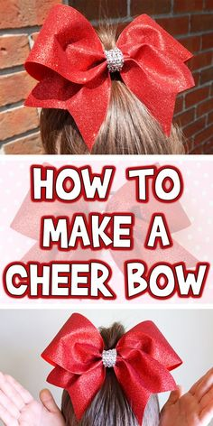 How to Make a Cheer Bow Woo! The newspaper can be balled up and thrown away when the project is done >>> Check out the image by visiting the link. I love bows If your girls are in cheerleading, or jus Cheer Hair Bows, Big Hair Bows, Ribbon Hair Bows, Making Hair Bows, Diy Ribbon, Ribbon Flower, Bows With Ribbon, Easy Hair Bows, Vintage Pink