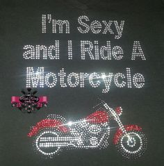 Cruiser Motorcycle Rhinestone Tee by KandyCoat on Etsy, $25.00 Find us on Facebook: Rock Kandy Designs