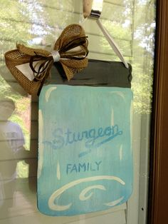 Mason Jar Door Hanger by FortSturgeon on Etsy
