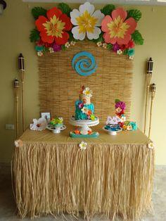 Moana bday Moana Birthday Party Theme, Luau Theme Party, Moana Themed Party, Hawaiian Luau Party, Hawaiian Birthday, Luau Birthday, Birthday Parties, Birthday Ideas, Moana Party Decorations