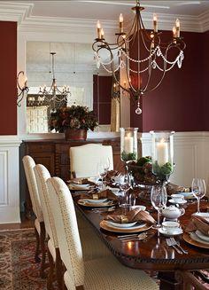 Red Dining Room, #redwalls #diningroom