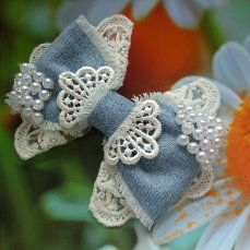 Ribbon Art, Ribbon Bows, Grosgrain Ribbon, Felt Brooch, Dog Bows, Lace Bows, Diy Hair Bows, Baby Crafts, How To Make Bows