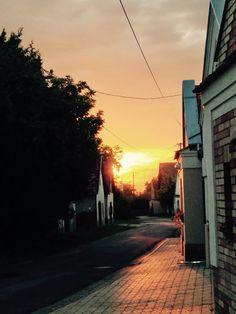 Főkáptalani #pincesor naplementében