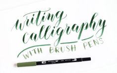 Using Brush Pens for Calligraphy + A Tombow Giveaway