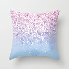 Glitteresques IV:XI Throw Pillow by raincarnival Cute Bedroom Decor, Room Ideas Bedroom, Dream Bedroom, Dream Rooms, Unicorn Room Decor, Unicorn Bedroom, Unicorn Rooms, Cute Pillows, Colorful Pillows