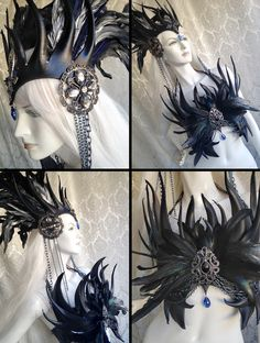 Now available on Etsy: Demon / Vampire / Dark Faerie Queen Bustier Corset Top - Leather, Feathers, Crystals and Chains ~ www.etsy.com/listing/219242642/demon-vampire-dark-faerie-queen-bustier?