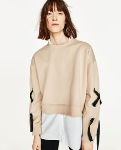 ZARA - COLLECTION SS/17 - SWEATSHIRT WITH BOW