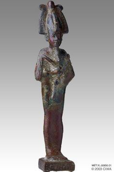 Bronze of King Psamtik I as Osiris, Dyn. 26
