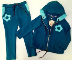 Sweatshirt set Daisy for girls, size 122, knit cotton by Tremokidz on Etsy