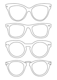 bc19996acd2 sunglasses template - use for Back to School Night for parents to write  messages to their