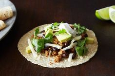 Coconut-Lime Pork Tacos with Black Beans and Avocado Recipe on Food52