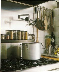 Like stainless steel wall over stove (prefer diamond pattern), like wall faucet over stovetop