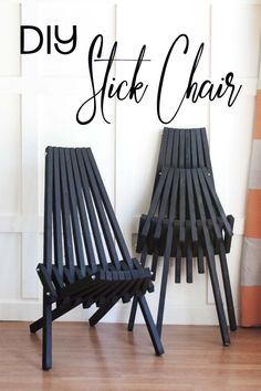 How to make a folding stick chair. They're a little old fashioned and yet super modern. The DIY stick chair is perfect for outdoors and folds for easy storage. FREE building plans for making your own.