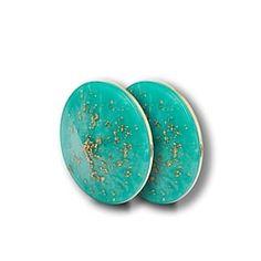 FRENDS Headphones, Layla Caps: Gold Flakes, Green Aqua Resin