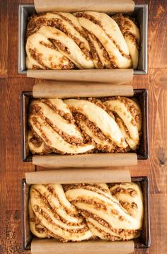 Recipe: Sticky Caramel-Pecan Babka Loaves — Recipes from The Kitchn It all started a few months back when Faith connected me with Jerry James Stone and his Three Loaves project. Jerry's simple idea, an easy intro to giving, is that… Continue Reading → Loaf Recipes, Cooking Recipes, Pudding Recipes, Cooking Tips, Pecan Recipes, Artisan Bread Recipes, Challah Bread Recipes, Bake Off Recipes, Breakfast Bread Recipes