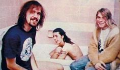 Happy Birthday to Kurt Cobain: Nothing Better Than Nirvana Getting Interviewed In A Bathroom Nirvana Kurt Cobain, Nirvana Band, Grunge Hippie, Donald Cobain, Smells Like Teen Spirit, Dave Grohl, Foo Fighters, Jimi Hendrix, Punk Rock