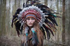 Costume feather headdress