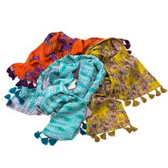 Upcycled Sari Scarf -infinity or traditional