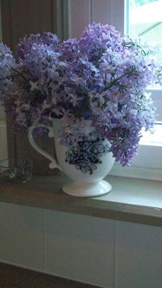 Lilacs on the Window Sill