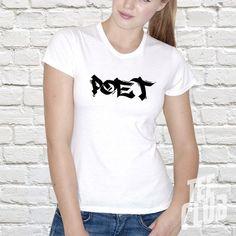 Poet shirt artist shirt hiphop tee poetry hipster tee by TeeClub