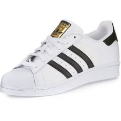 Adidas Men's Superstar Classic Leather Sneaker ($80) ❤ liked on Polyvore featuring men's fashion, men's shoes, men's sneakers, mens low tops, mens lace up shoes, mens metallic gold sneakers, mens sneakers and mens shoes