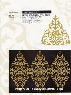 PUCUK REBUNG KUNTUM DEWA (Melayu Riau) Batik Pattern, Pattern Art, Motif Design, Pattern Design, Sustainable Supply Chain, Ornament Drawing, Batik Art, Hand Embroidery Flowers, Stencil Painting
