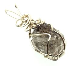 Herkimer Diamond Wire Wrapped Crystal Gem Pendant 21