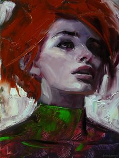 """Calico"" original fine art by John Larriva"