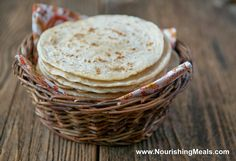 Nourishing Meals: How To Make Brown Rice Flour Tortillas (gluten-free, vegan)
