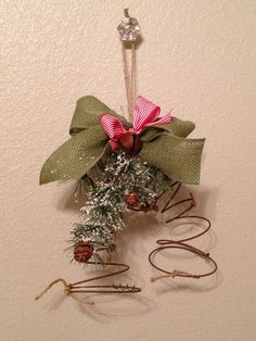 Bed Spring Christmas Decor, Rustic Home and Wedding Decor on Etsy, $35.00