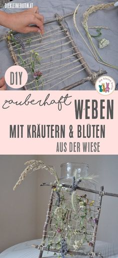 Weaving with flowers herbal hike with children and .- Weben mit Blüten Kräuterwanderung mit Kindern und wie die gefundenen … Weave with flowers Herbal hike with children and how the treasures found stay beautiful for a long time. ›The little messenger - Kids Crafts, Diy And Crafts, Diy Pinterest, Magical Pictures, Beautiful Pictures, Fleurs Diy, Diy Décoration, Woven Wall Hanging, Tapestry Weaving