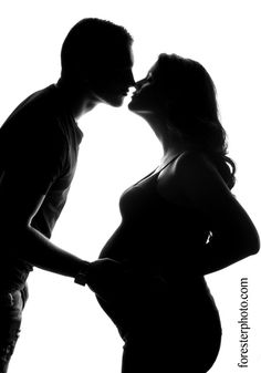 Maternity Silhouette | Unique Pregnancy Photography